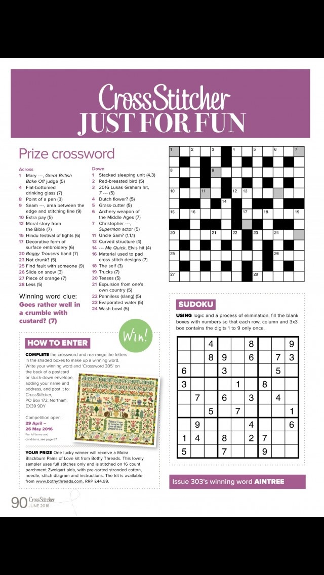 download CrossStitcher Magazine | stitching and colourful designs in home furnishings apps 1
