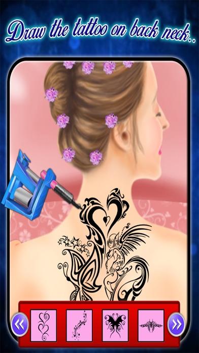 Back Tattoo Art Maker - Tattoo Art Game screenshot one