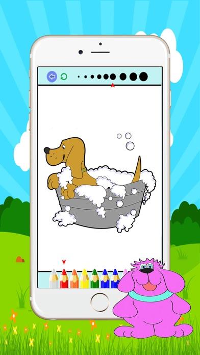 犬と猫の塗り絵 :大人と小さな子供のための無料印刷可能な着色ページスクリーンショット4