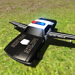 Flying Police Car Driving Simulator Free Criminal Craft Chase On