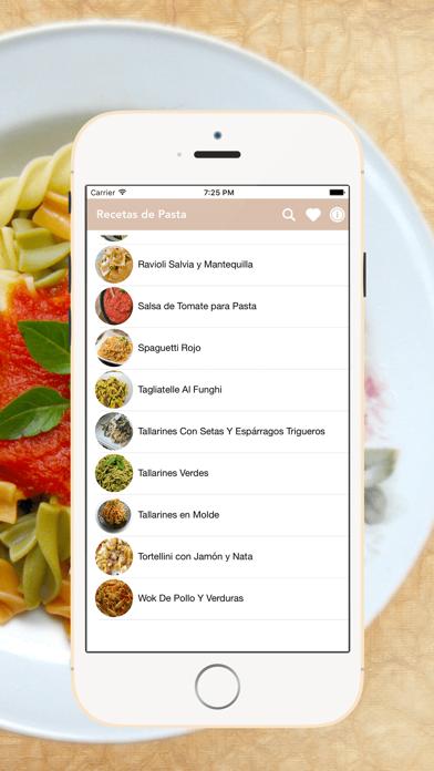 Recetas de Pastas screenshot two