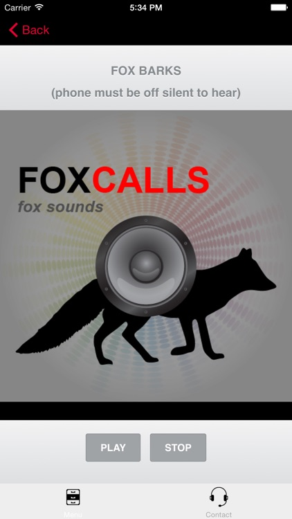 REAL Fox Sounds and Fox Calls for Fox Hunting (ad free) BLUETOOTH COMPATIBLE screenshot-0