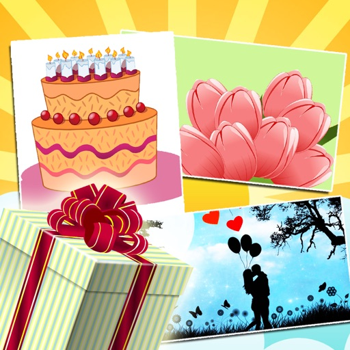 Birthday Greeting Cards - Text on Pictures: Happy Birthday Greetings icon