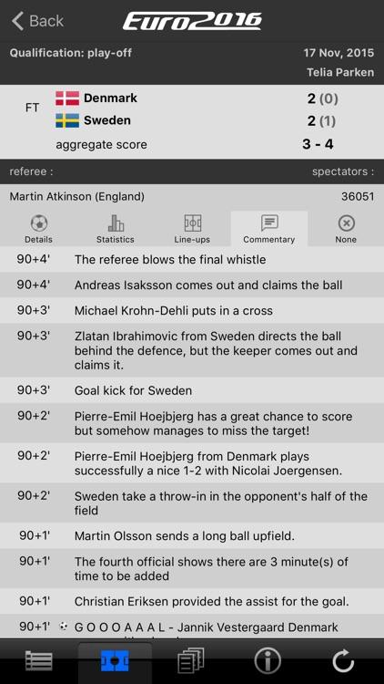 LiveScore Euro 2016 screenshot-3
