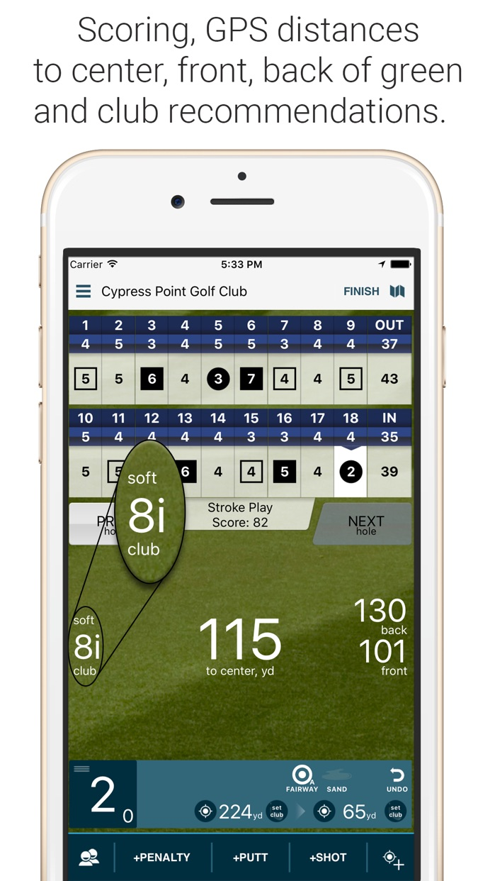 Golf Pad: Free Golf GPS Screenshot