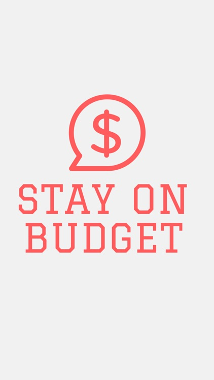 Stay on Budget