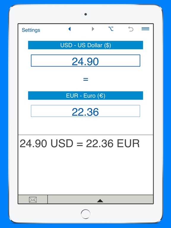 Screenshot 2 For Us Dollars To Euros And Eur Usd Converter