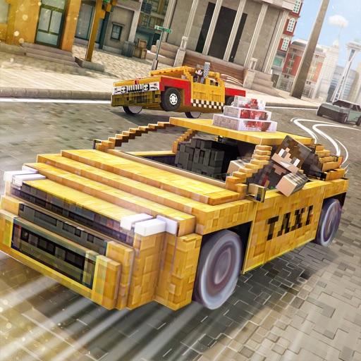 такси майнкрафт автомобиль гонки игр для детей бесплатно