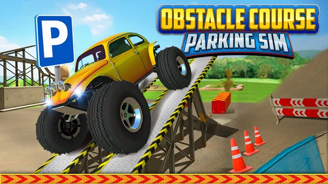 obstacle course extreme car parking simulator gratuit jeux de voiture de course dans l app store. Black Bedroom Furniture Sets. Home Design Ideas