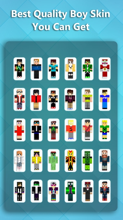 Best Boy Skins - Texture collection for MineCraft Pocket Edition