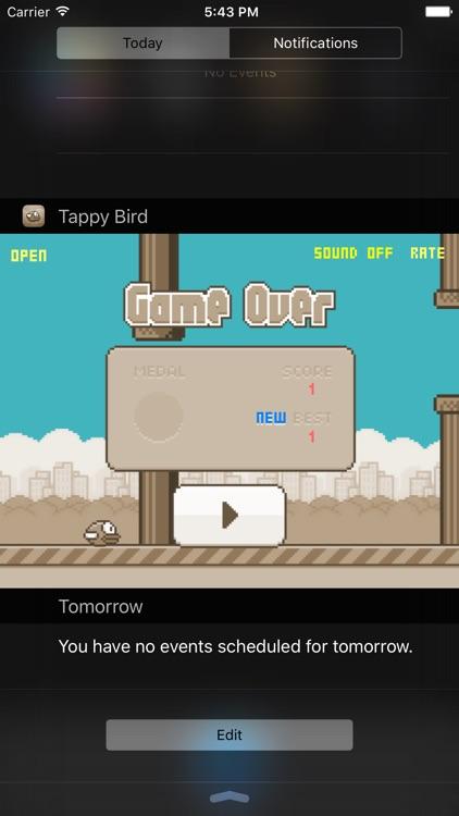 Steve - The Jumping Dinosaur Widget Game and Tappy Bird screenshot-3