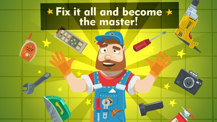 Tiny repair - fix home appliances and become a master of broken things in a cool game for kids screenshot-0