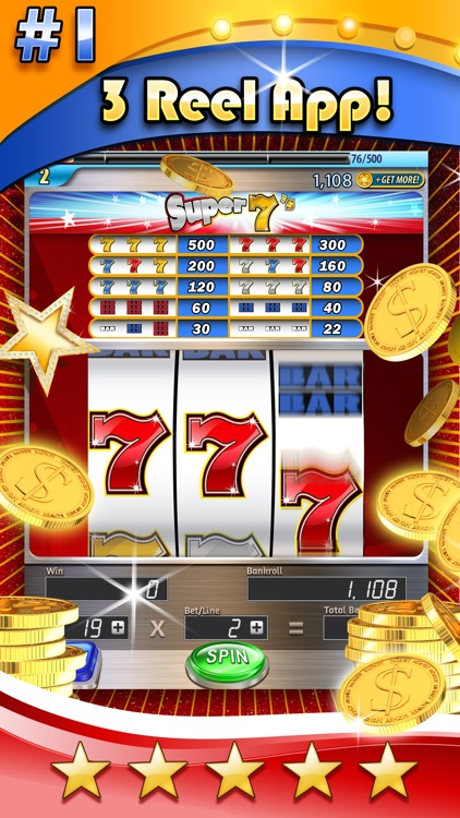 Slots: 3-Reel Slots Deluxe – All New, Real Vegas Casino Slot Machines