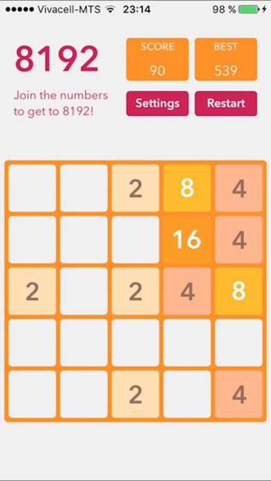 2048 Plus (Fibonacci, themes, sizes) screenshot two