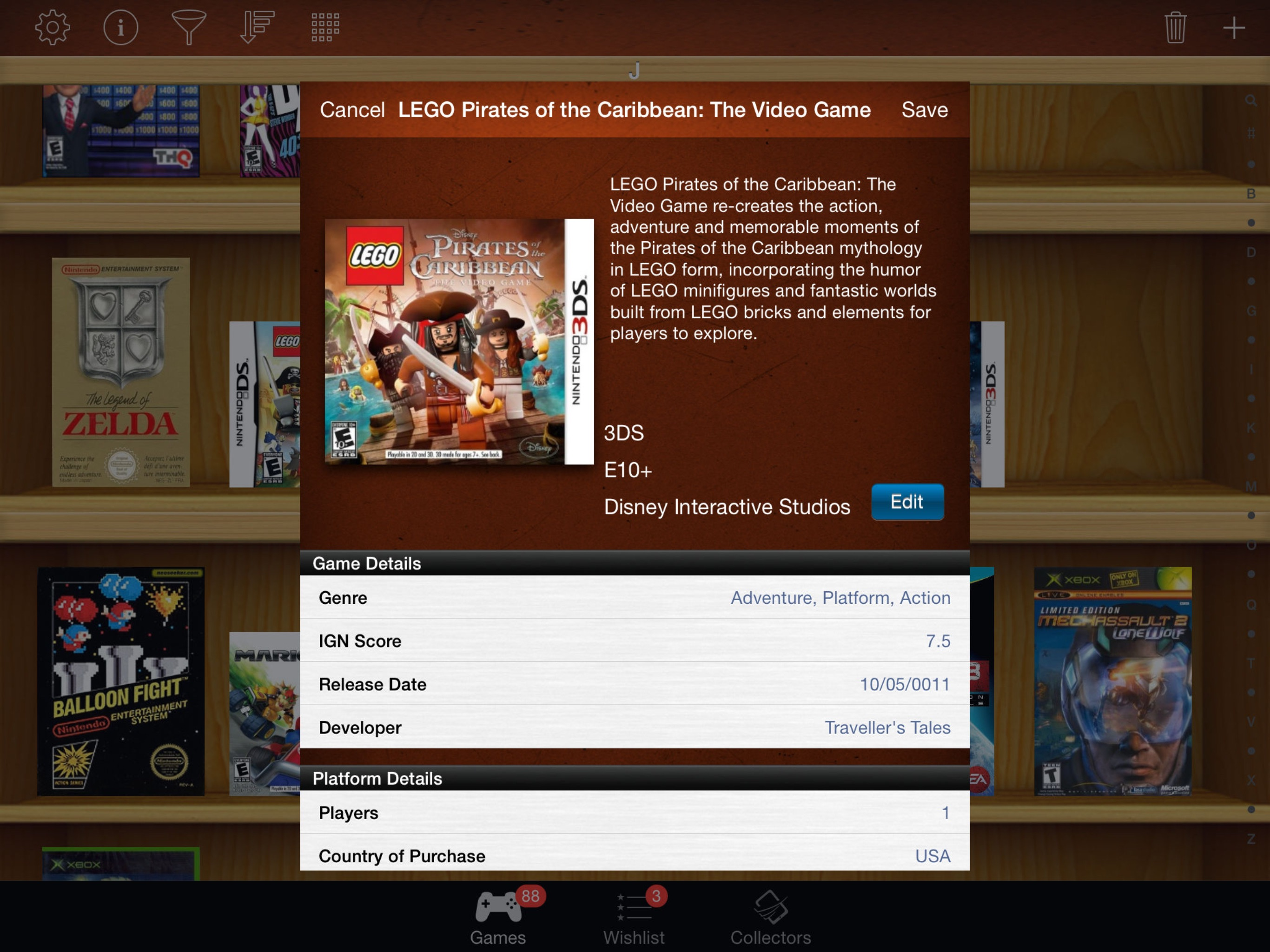 Collectors: Movies Games Books Comics Music - iPad Screenshot