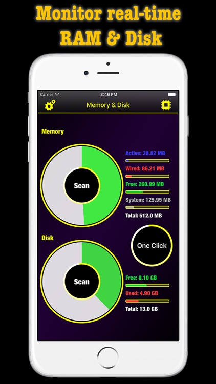 Memory & Disk RAM Scanner Pro - Master CPU System