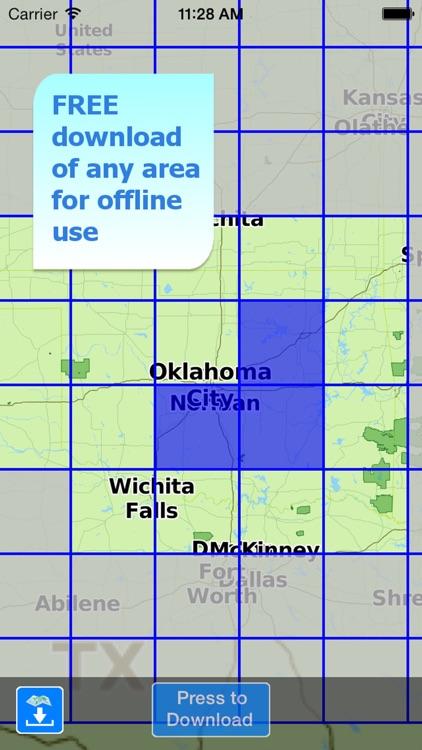 Aqua Map Oklahoma Lakes GPS HD screenshot-5