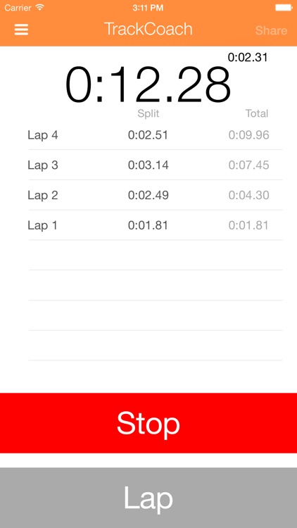 TrackCoach - Running Stopwatch