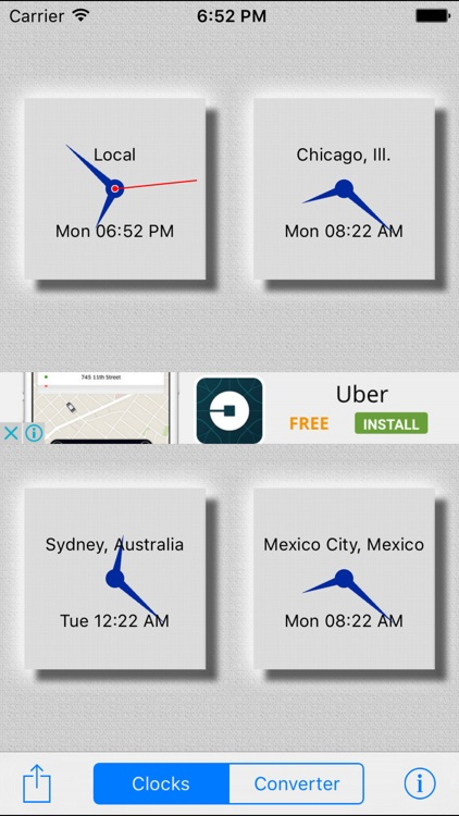 World Clocks / Time Converter