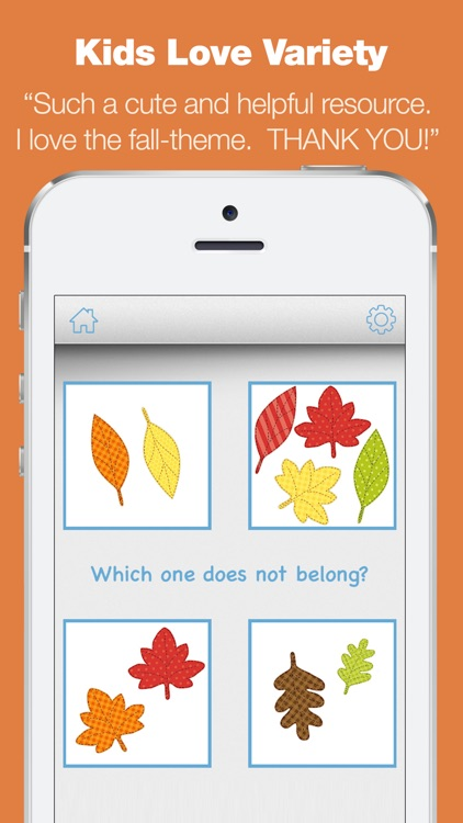Kindergarten Learning Games - Fall Review App screenshot-4