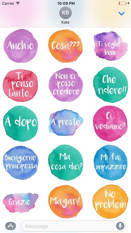 Ciao - Stickers dipinti a mano in acquerello