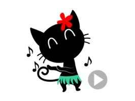 Black Cat the Dancer Stickers