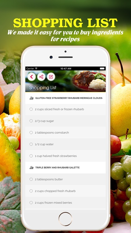 Yummy Fruit Recipes Pro ~ Best of delicious fruit recipes screenshot-2