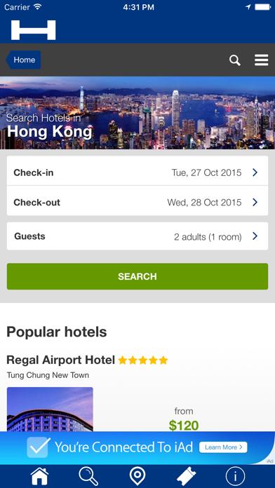Hong Kong Hoteles + Compara y Reserva de hotel para esta noche con el mapa y viajes turísticosCaptura de pantalla de1