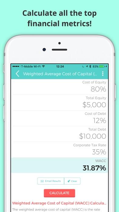 financial calculator margin amortization lease by q2 mobile