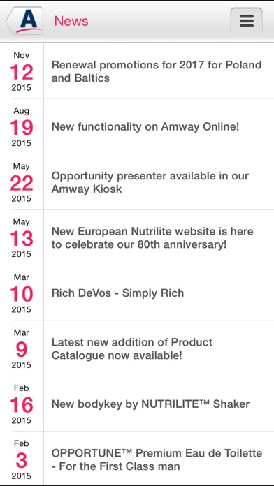Screenshot for Amway Europe in Austria App Store