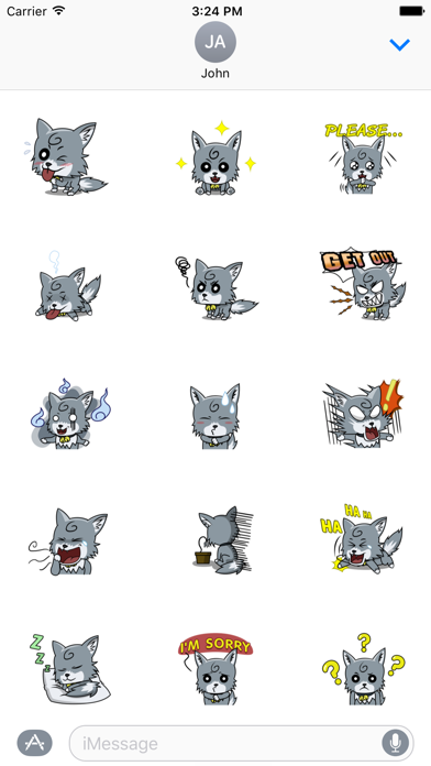 Cute Wolf Sticker For iMessages
