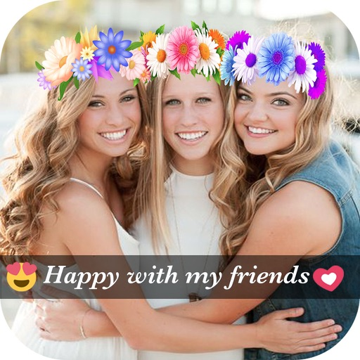 Collage Maker Layout for Instagram - Filters Flower Crown for