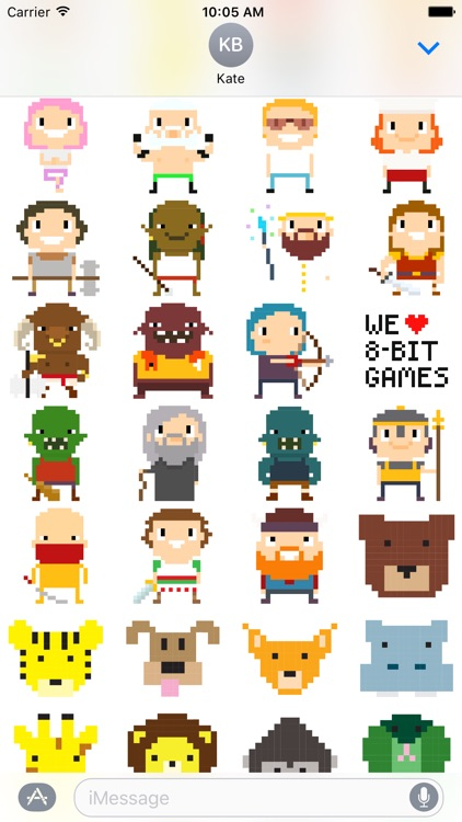 8-bit Stickers for iMesssage