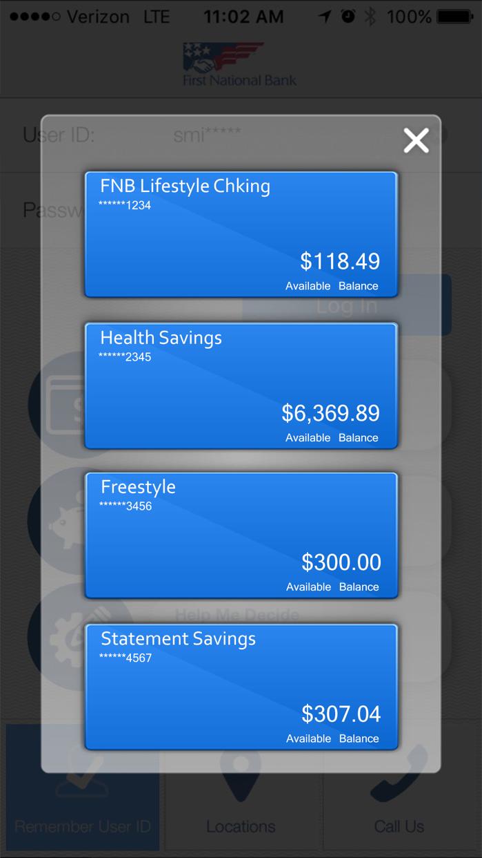 FNB Direct Screenshot