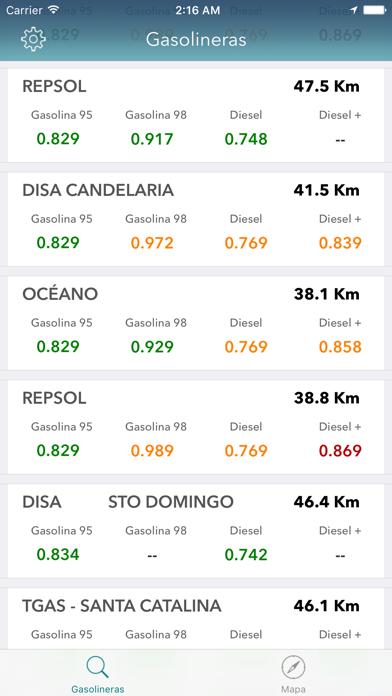 Gasolineras Españolas screenshot one