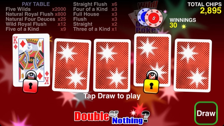 Wild Dream Poker - Deuces Wild screenshot-4