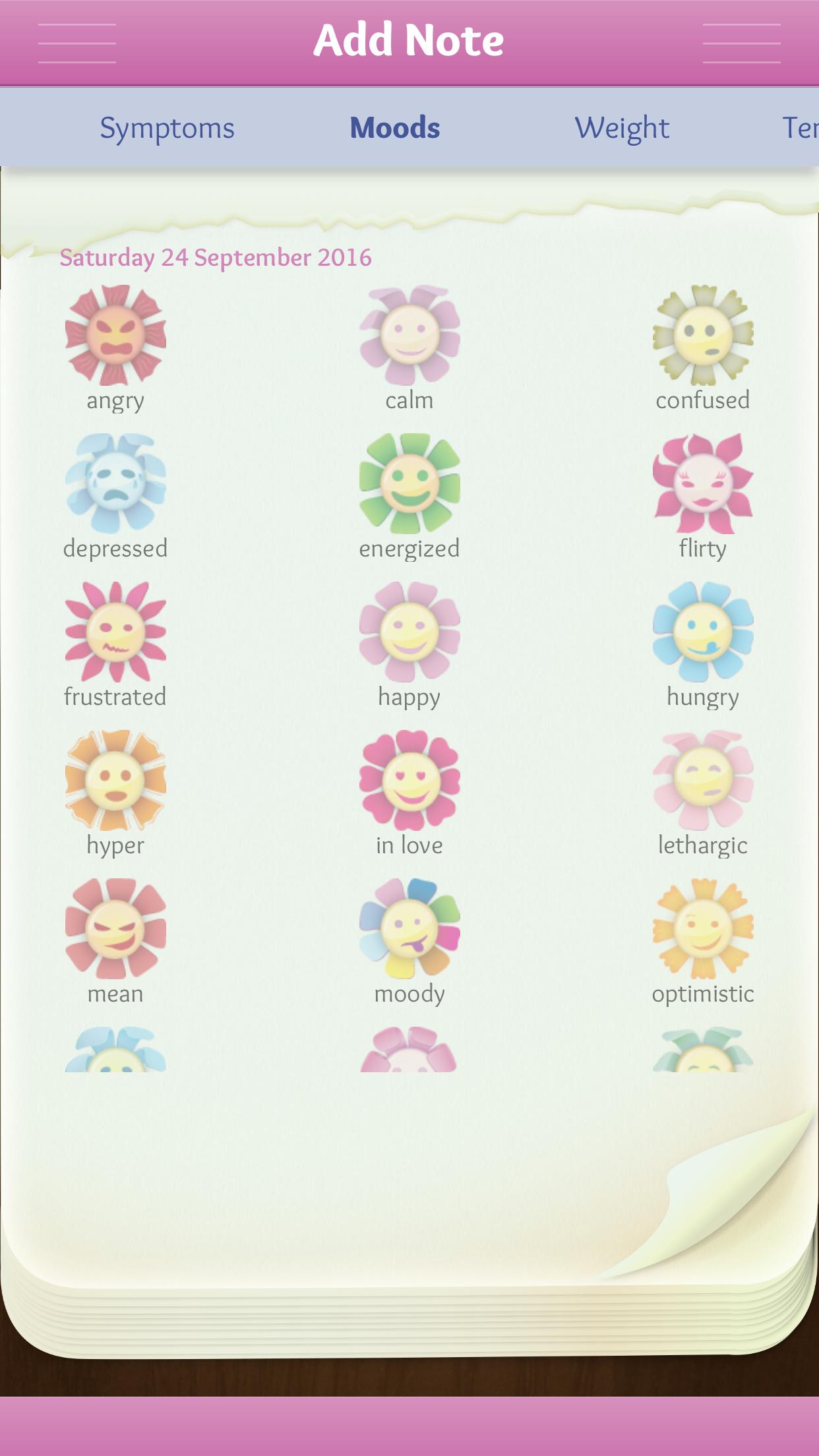 Period Diary (Period, Fertile & Ovulation Tracker) Screenshot