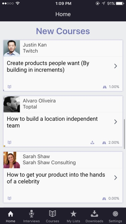 Mixergy - Learn from Proven Entrepreneurs screenshot-0