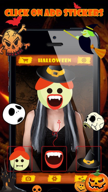 Halloween Emoji Stickers - Face Photo Makeup Games screenshot-1