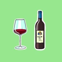 Bio Dynamic Wine Stickers for iMessage