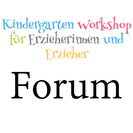 Kindergarten-Workshop Forum