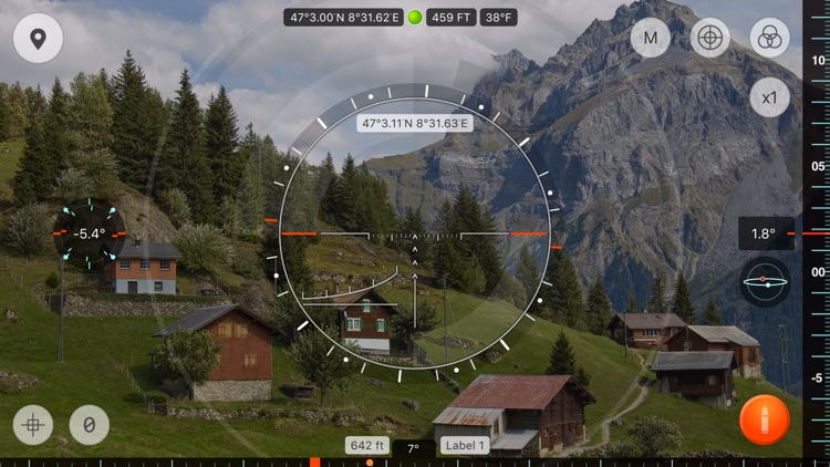Range Finder - ultimate distance and angle measurement tool with augmented reality and compass screenshot-3