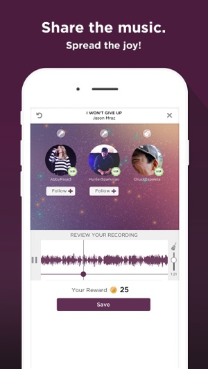 how to delete recordings on smule