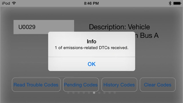 Engine Link - OBD II diagnosis Screenshot