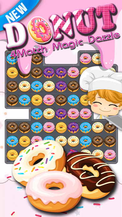 Donut Match - Dazzle Cookie Crush Donut Puzzle .