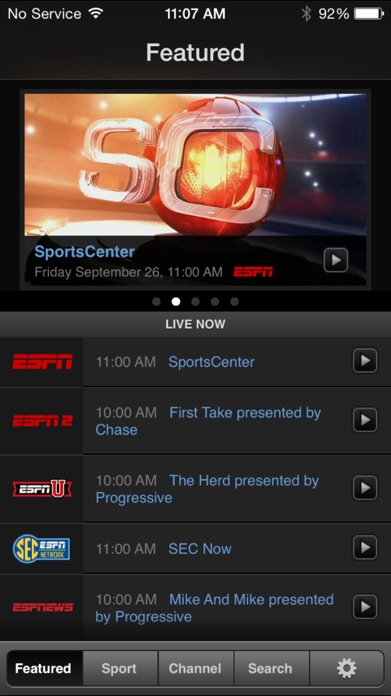 WatchESPN Screenshot