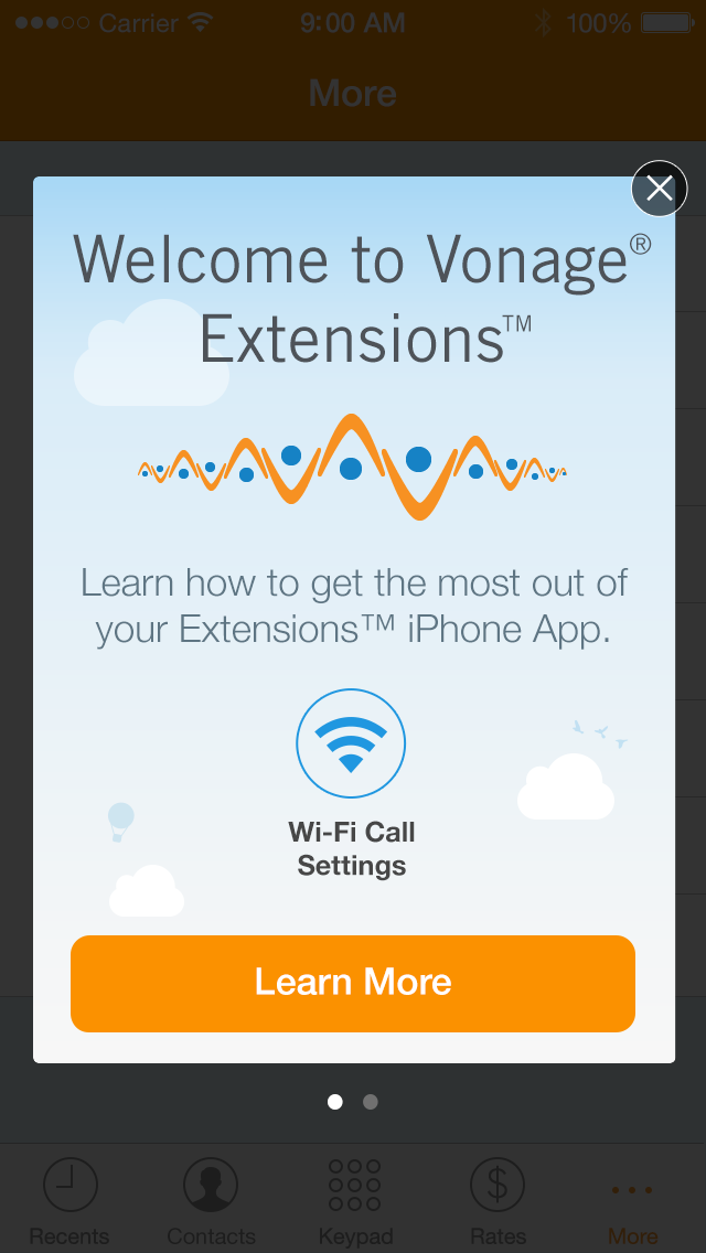 Vonage Extensions – Your Home Calls on your iPhone Screenshot