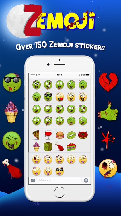 Zemoji Zombie Emoji - Halloween iMessage Stickers