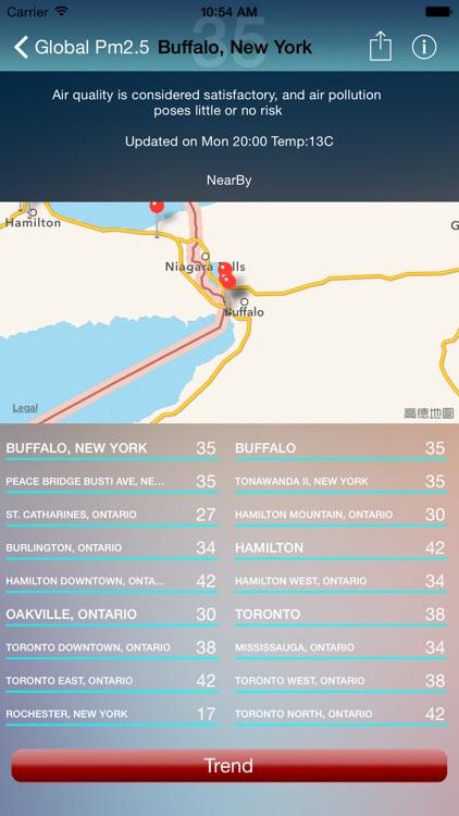 iAirQuality --Global Air Quality Index Pm2.5,pm10 screenshot-4
