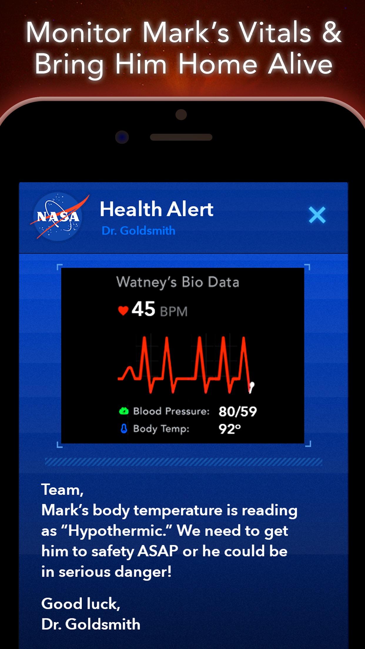 Screenshot do app The Martian: Official Game